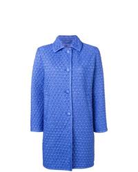 Abrigo acolchado azul de Ermanno Scervino