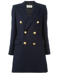 Abrigo Azul Marino de Saint Laurent