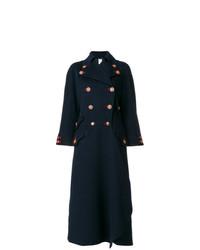 Abrigo Azul Marino de Versace Vintage