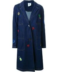 Abrigo Bordado Azul Marino de SteveJ & YoniP