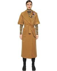 Abrigo bordado marrón claro