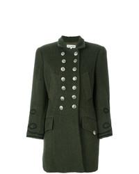Abrigo bordado verde oscuro de Dolce & Gabbana Vintage