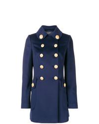 Abrigo con Adornos Azul Marino de Dolce & Gabbana