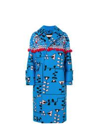 Abrigo con adornos azul de Marni