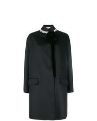 Abrigo con adornos negro de Prada