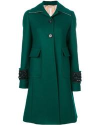 Abrigo con adornos verde de No.21