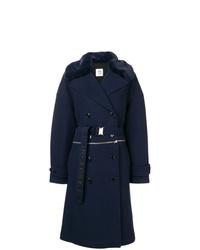 Abrigo con cuello de piel azul marino de Closed
