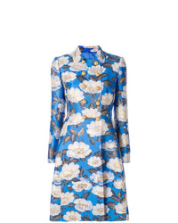 Abrigo con print de flores celeste de Dolce & Gabbana