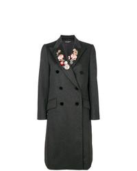 Abrigo con print de flores en Gris Oscuro de Dolce & Gabbana