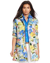 Abrigo con print de flores en multicolor