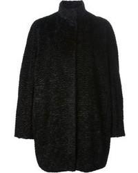 Abrigo con relieve negro
