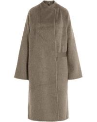 Abrigo de angora marrón