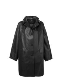 Abrigo de cuero negro de Kassl