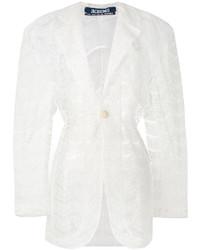 Abrigo de encaje blanco de Jacquemus