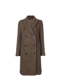 Abrigo de espiguilla marrón