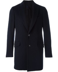 Abrigo de lana azul marino de Etro
