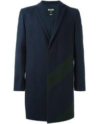 Abrigo de lana azul marino de MSGM