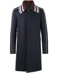Abrigo de lana azul marino de Valentino