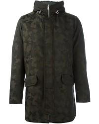 Abrigo de lana de camuflaje negro de Eleventy