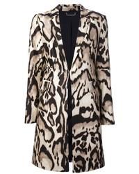 Abrigo de Leopardo Beige de Diane von Furstenberg