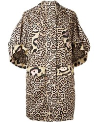 Abrigo de leopardo en beige de Givenchy