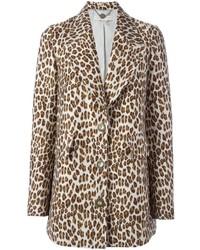 Abrigo de leopardo en beige de Stella McCartney