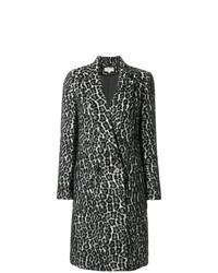 Abrigo de leopardo en negro y blanco de MICHAEL Michael Kors