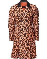 Abrigo de leopardo marrón claro de G.V.G.V.
