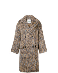 Abrigo de leopardo marrón claro de Kenzo