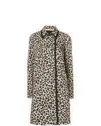 Abrigo de leopardo marrón claro de N°21