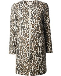 Abrigo de leopardo marrón claro de Sea