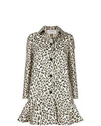 Abrigo de leopardo marrón claro de Valentino