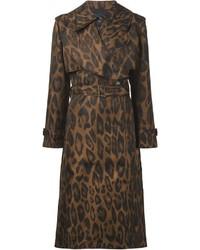 Abrigo de leopardo marrón de Lanvin