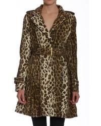 Abrigo de Leopardo Marrón de Members Only