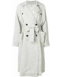 Abrigo de lino gris de Isa Arfen