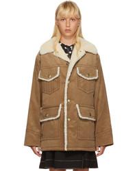 Abrigo de pana marrón claro