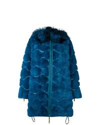 Abrigo de piel azul de Liska
