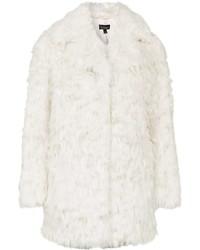 Abrigo de piel blanco