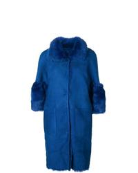 Abrigo de piel de oveja azul de Desa Collection