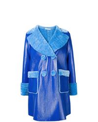 Abrigo de piel de oveja azul de Vivetta