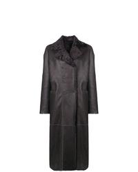Abrigo de piel de oveja en gris oscuro de S.W.O.R.D 6.6.44