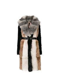 Abrigo de piel de oveja en multicolor de N°21