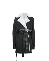 Abrigo de piel de oveja en negro y blanco de Unravel Project