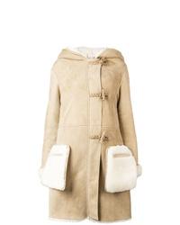 Abrigo de piel de oveja marrón claro de Golden Goose Deluxe Brand