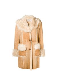 Abrigo de piel de oveja marrón claro de P.A.R.O.S.H.