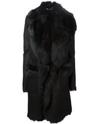 Abrigo de piel de oveja negro de Belstaff