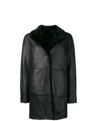 Abrigo de piel de oveja negro de Drome