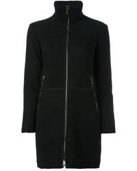 Abrigo de piel de oveja negro de Giorgio Brato