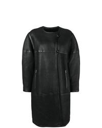 Abrigo de piel de oveja negro de Isabel Marant