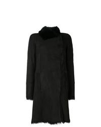 Abrigo de piel de oveja negro de Joseph